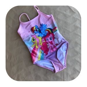 H&M My Little Pony Swimsuit Girls 4-6Y